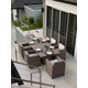 Skyline Design Pacific 7 Piece Outdoor Dining Set in JB Chocolate