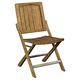 Broyhill New Vintage Café Wood Slat Chair in Vintage Brown (Set of 2)