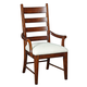 Kincaid Homecoming Patterson Ladderback Arm Chair in Vintage Cherry (Set of 2) 38-062