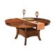 New Classic Furniture Aspen Round Dining Table in Burnished Cherry 40-116-11