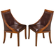 New Classic Furniture Aspen Club Chair (Set of 2) in Burnished Cherry 40-116-15