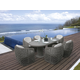 Skyline Design Dynasty 7 Piece Oval Outdoor Dining Set