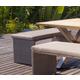 Skyline Design Clever Short Bench in Silver Walnut 22126