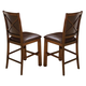 New Classic Furniture Aspen Counter Dining Chair (Set of 2) in Burnished Cherry 45-116-22