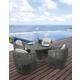Skyline Design Dynasty 5 Piece Round Outdoor Dining Set