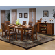 New Classic Furniture Aspen 8 Piece Standard Rectangle Dining Set in Burnished Cherry