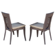Skyline Design Madison Dining Chair in Shimmer Viola (Set of 2) 22403