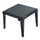 Skyline Design Miami Square Dining Table in Black Mushroom 22471