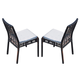 Skyline Design Miami Dining Chair in Black Mushroom (Set of 2) 22473