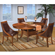 New Classic Furniture Aspen 6 Piece Round Dining Set in Burnished Cherry