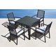 Skyline Design Miami 5 Piece Square Dining Set in Black Mushroom