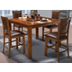New Classic Furniture Aspen 6 Piece Counter Dining Set in Burnished Cherry