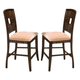 New Classic Edgemont Dining Chair in Distressed Walnut (Set of 2) 40-112-20