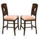 New Classic Edgemont Counter Dining Chair in Distressed Walnut (Set of 2) 45-112-22