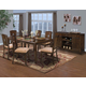 New Classic Edgemont 7 Piece Rectangular Dining Set in Distressed Walnut