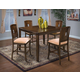 New Classic Edgemont 6 Piece Counter Dining Set in Distressed Walnut