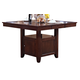 New Classic Furniture Kaylee Counter Table in Tudor Brown 45-101-B10