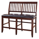 New Classic Furniture Kaylee Counter Bench in Tudor Brown 45-101-25