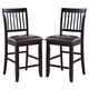 New Classic Furniture Kaylee Counter Chair (Set of 2) in Espresso 45-102-20