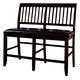 New Classic Furniture Kaylee Counter Bench in Espresso 45-102-25
