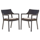 Skyline Design Plank Dining Arm Chair in JB Chocolate (Set of 2) 22694