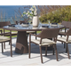 Skyline Design Plank Oval Dining Table in JB Chocolate 22690
