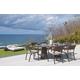 Skyline Design Plank 7 Piece Oval Dining Set in JB Chocolate