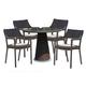 Skyline Design Plank 5 Piece Round Dining Set in JB Chocolate