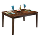 New Classic Latitudes Rounded Dining Table in Chestnut 40-160-10C