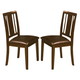 New Classic Latitudes Vertical Back Chair with PU Seat in Chestnut (Set of 2) 40-150-21C