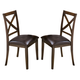 New Classic Latitudes X- Back Chair with PU Seat in Chestnut (Set of 2) 40-150-24C
