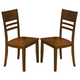New Classic Latitudes Horizontal Slat Chair in Wood Seat in Two Tone (Set of 2) 40-150-22T