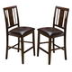 New Classic Latitudes Counter Vertical Back Chair with PU Seat in Chestnut (Set of 2) 45-150-21C