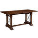 Broyhill Attic Heirlooms Counter Height Trestle Table in Rustic Oak 5399-523