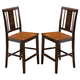 New Classic Latitudes Counter Vertical Back Chair in Wood Seat in Two Tone (Set of 2) 45-150-21T