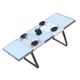 Skyline Design Oregon Rectangular Dining Table in Silver Walnut 22480