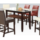 Acme Furniture Ripley 8pc Counter Height Dining Room Set in Espresso