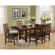 New Classic Madera 7 Piece Dining Room Set in Chestnut