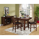 New Classic Madera 5 Piece Counter Height Dining Set in Chestnut