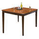 New Classic Latitudes Counter Cut Corner Dining Table in Two Tone 45-150-11T