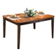 New Classic Latitudes Cut Corner Dining Table in Two Tone 40-150-11T