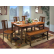 New Classic Latitudes 6 Piece Cut Corner Dining Set in Two Tone