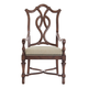 Bernhardt Eaton Square Customizable Splat Back Arm Chair (Set of 2) in Harvest Brown 352-X56