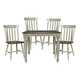 John Thomas Furniture Bridgeport 6 Piece Solid Top Dining Set in Espresso/Willow