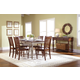 John Thomas Furniture Bridgeport 7 Extension Dining Set in Espresso/Willow