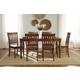 John Thomas Furniture Bridgeport 7 Extension Dining Set in Espresso