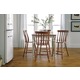 John Thomas Furniture Bridgeport 6 Piece Solid Top Gathering Dining Set in Espresso/Willow