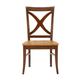 John Thomas Furniture Cosmopolitan Salerno Chair (Set of 2) in Aged Cherry/ Espresso C50-14