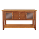 John Thomas Furniture Cosmopolitan Server in Aged Cherry/ Espresso SV50-34