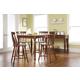 John Thomas Furniture Bridgeport 6 Piece Solid Top Gathering Dining Set in Espresso